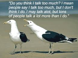 talking too much
