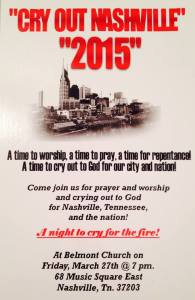 Cry out 2015