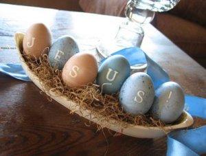 Easter egg Jesus basket