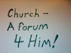 church forum 4 Him