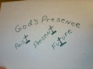 God's presence past present future