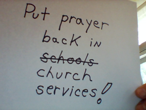 prayer in church
