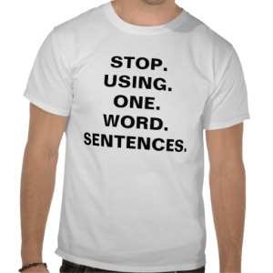 one word sentences