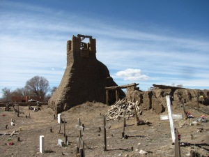 Remains of the bombed out church in Taos Peublo.
