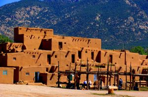 One of the two 1,000 year old multi-family dwellings in Taos Pueblo.