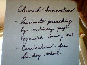 church innovations