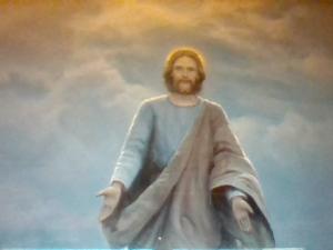 Jesus pic walking on water