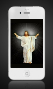 Jesus on cell phone