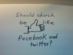 church like facebook twitter