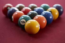 pool balls racked