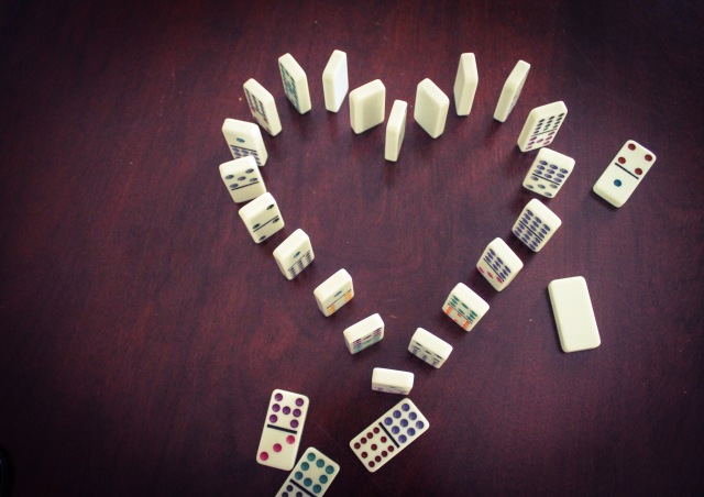 dominoes heart
