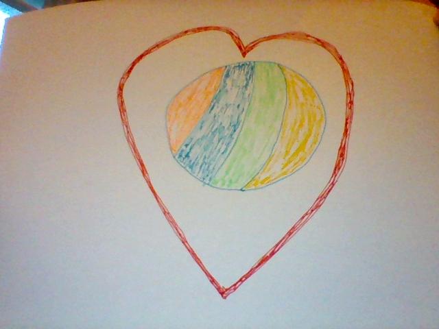 beach ball heart