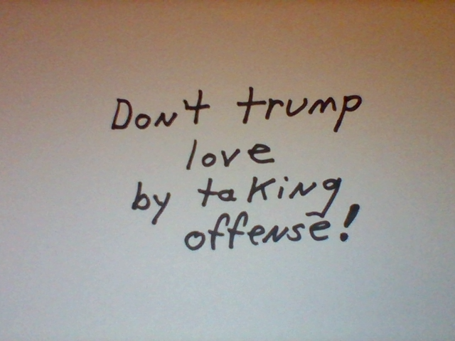 offense trumps love