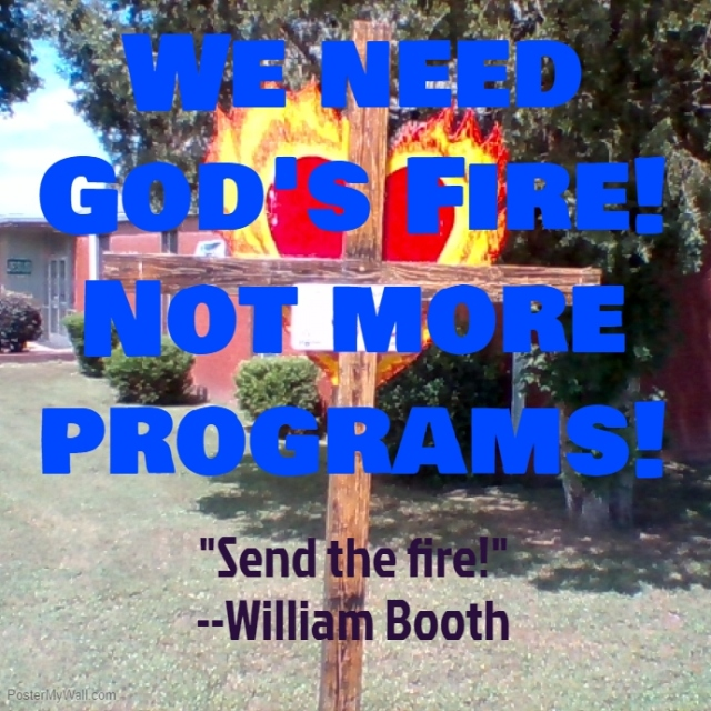 God's fire cross William Booth