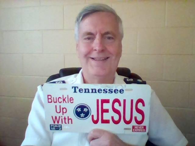 Jesus license plate