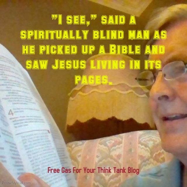 Bible reading blind man seeing!
