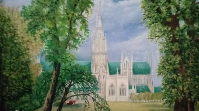 church building Melanie's painting