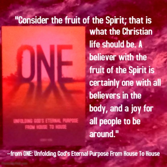 ONE poster fruit of the Spirit