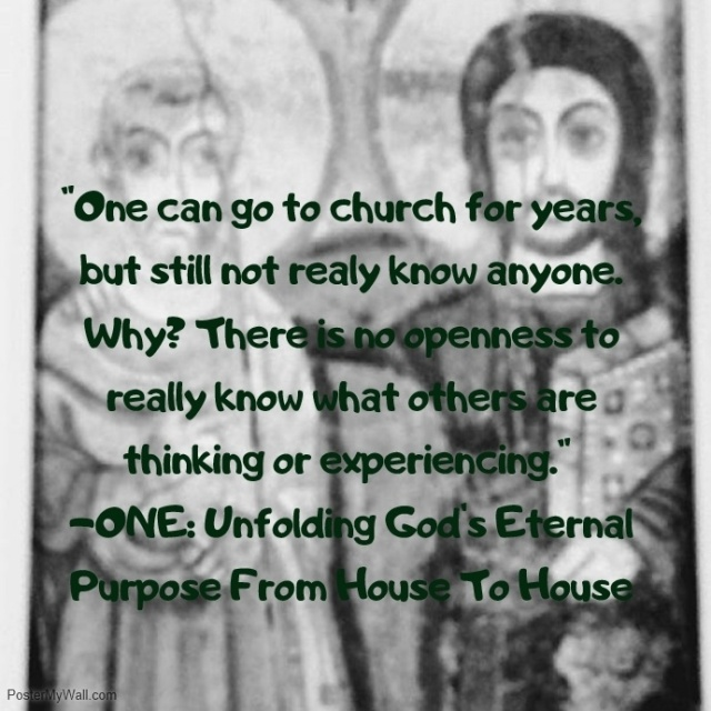 church one not knowing others