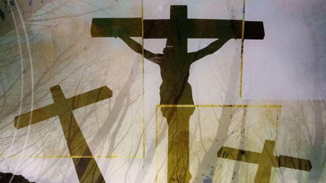 Jesus crosses
