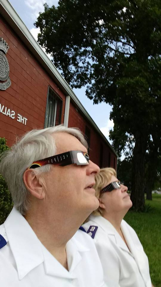 Solar eclipse at Berry Street